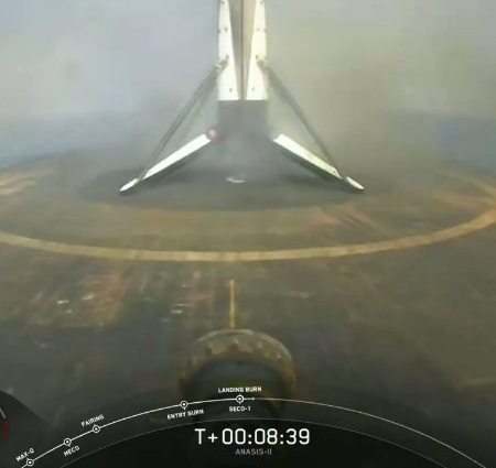 Falcon 9 first stage after landing