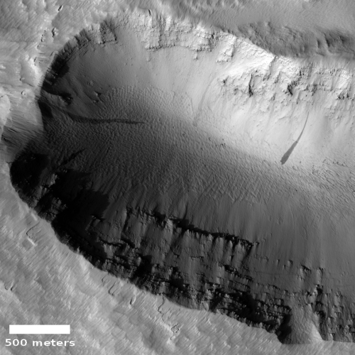 Depression on the northern flank of Ascraeus Mons