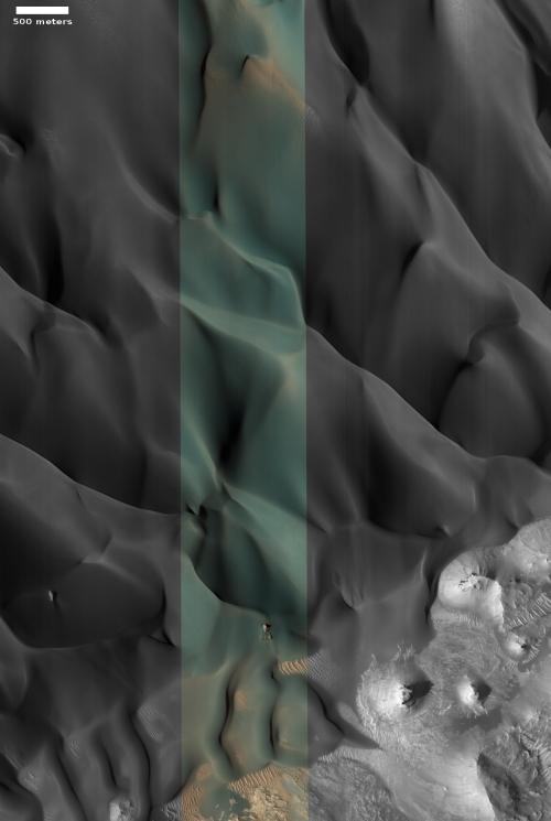 Beautiful dunes on Mars