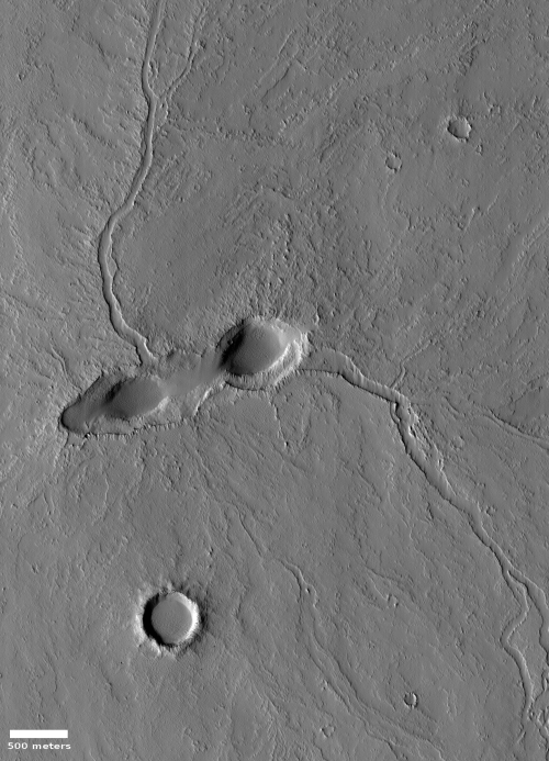 Volcanic vent near Pavonis Mons