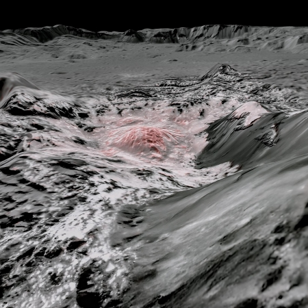 3D simulation of Occator Crater on Ceres