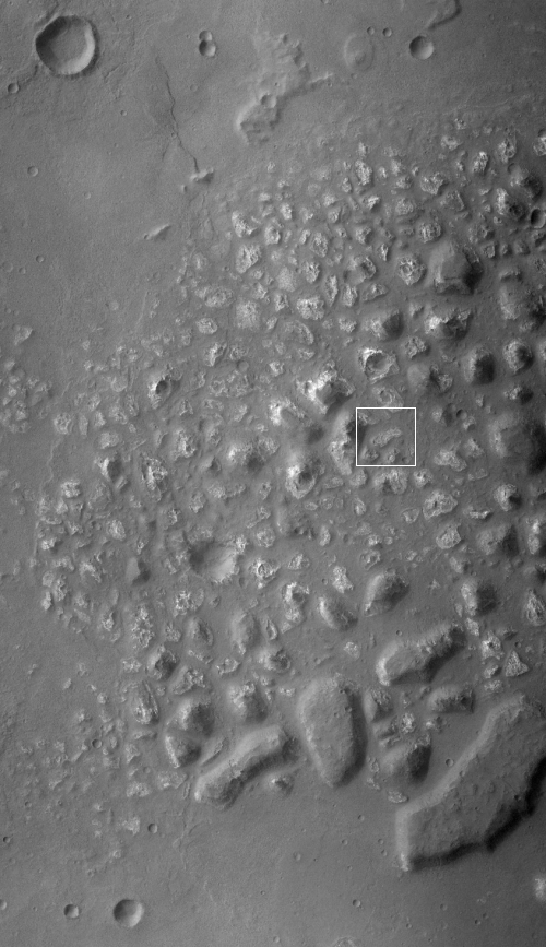 A patch of chaos in the southern cratered highlands of Mars