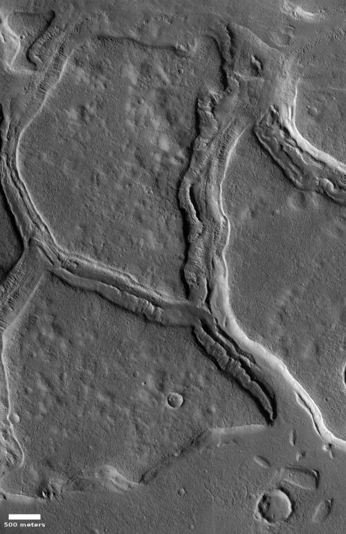 Glacial erosion on Mars