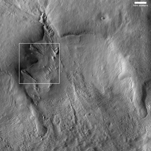 Flow features in Reull Vallis