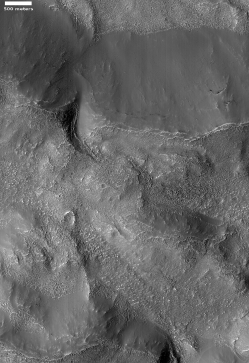 Wider shot showing entire crater rim
