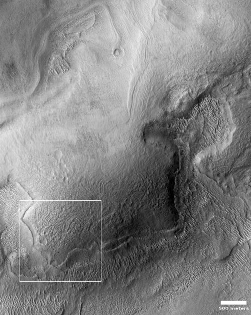 Ice-covered mountain on Mars?