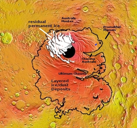 Overview map of south pole
