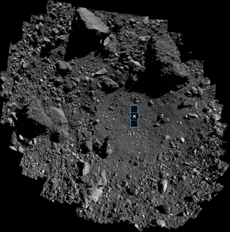 Nightingale landing site on Bennu