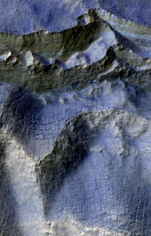southern hemisphere Martian ice scarp