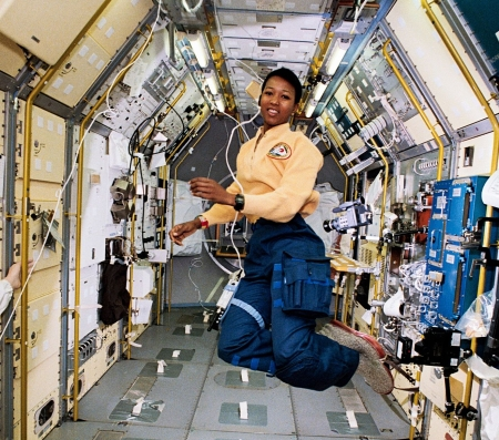 Mae Jemison on ISS in 1992