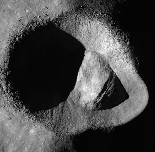 Strange Ryder Crater on the Moon