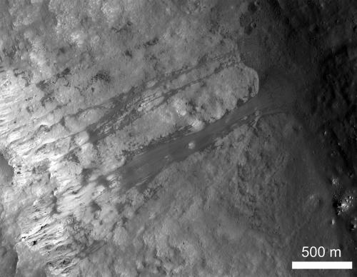 Landslide on the Moon