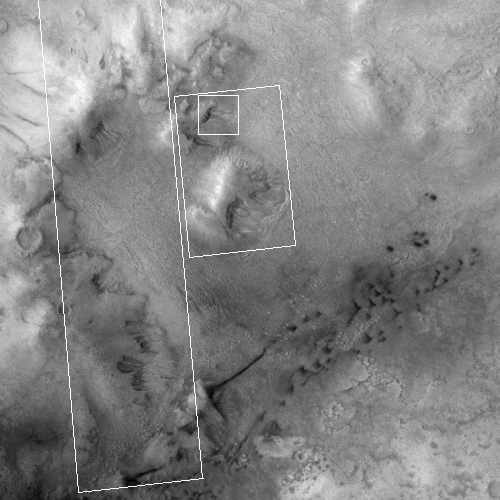 Wider image from MRO's context camera