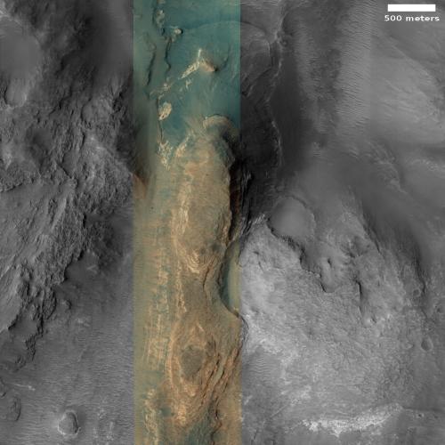 Layered mesa on Mars
