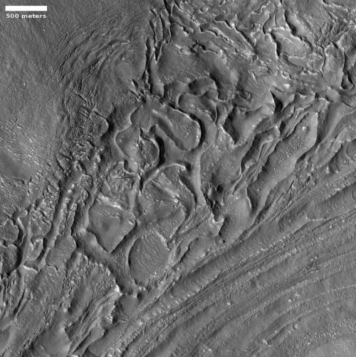 Glacial eddies on Mars?