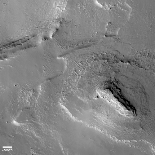 Majestic butte on Mars
