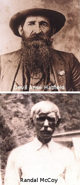 Members of the Hatfield and McCoy clans