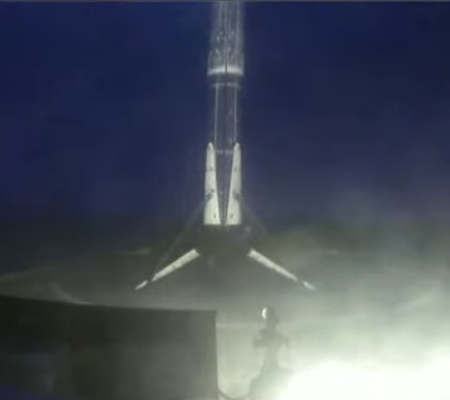 Falcon 9 booster landing for a record 7th time