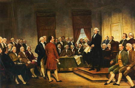 Signing the Constitution in 1787
