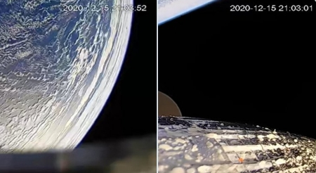 The view from space on Astra's Rocket