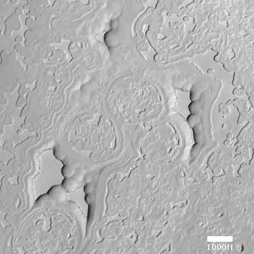 Cryptic terrain on CO2 ice cap on Mars