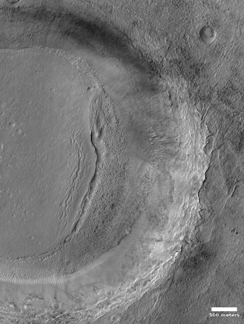 Crater in southern mid-latitudes