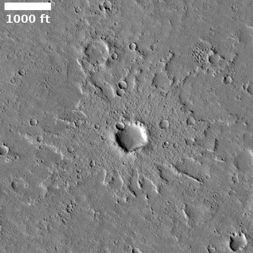 A splat on Mars