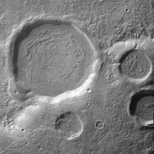 Context camera image of craters