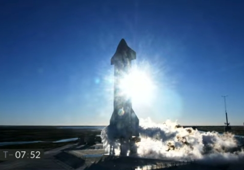 Starship on launch pad