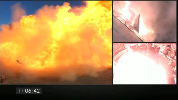 Explosion at impact