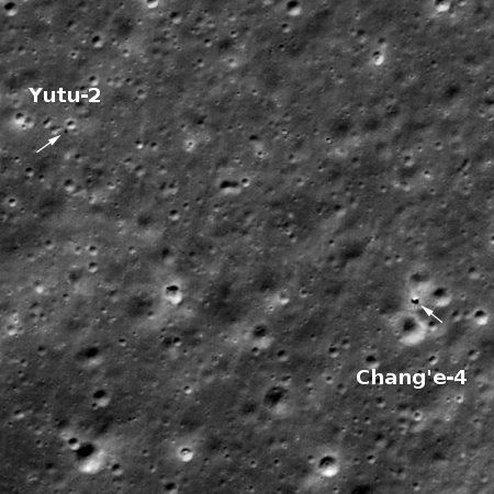 Yutu-2's travels on the Moon through October 2020