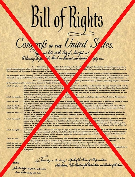 The Bill of Rights, cancelled
