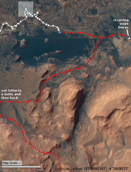 Curiosity's past and future travels