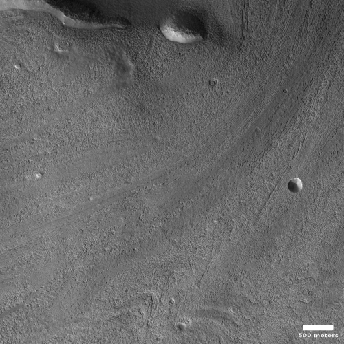 Large glacial flow exiting Mamers Valles