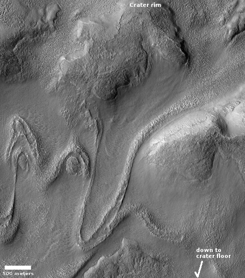 Draping moraines on Mars