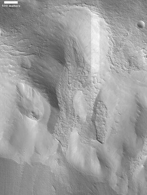 Tongue-shaped glacial flow on Mars