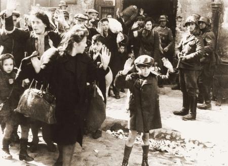 Nazi roundup of Jews during the Warsaw uprising