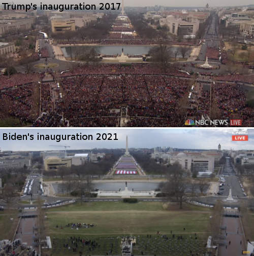 Comparing crowds at presidential inaugurations