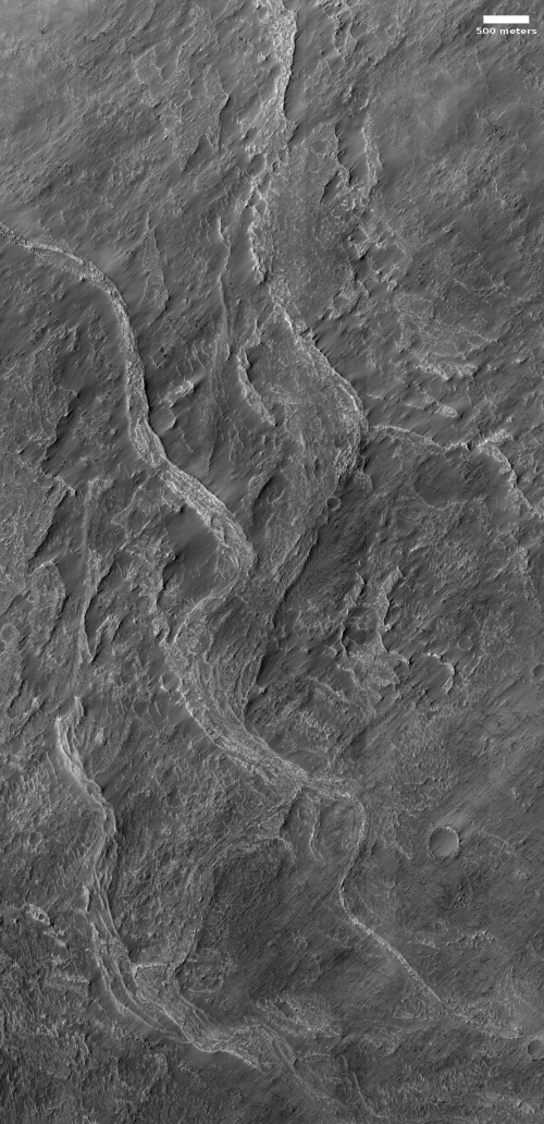 Sinuous ridge in Hellas Basin