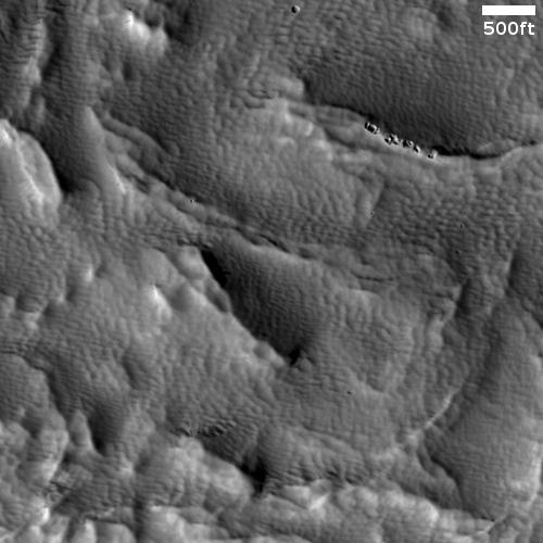 Hardened dunes with decaying tops