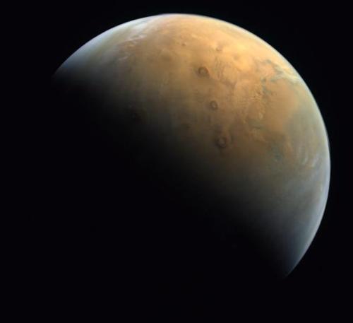 Al-Amal's first Mars image