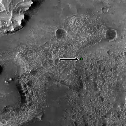 Detailed view of landing site