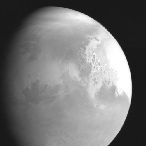 Mars as seen by Tianwen-1 for the first time
