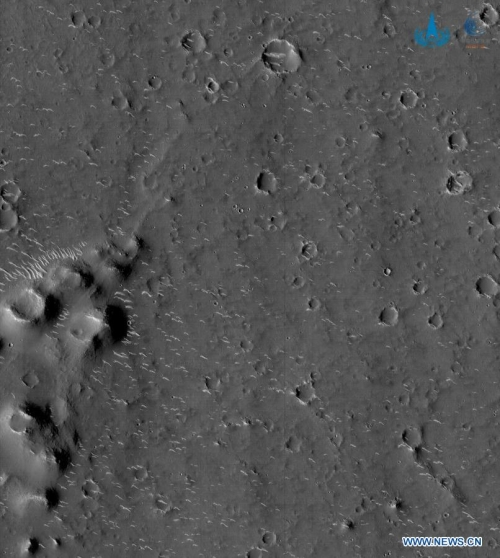 Tianwen-1 close-up of rover landing site