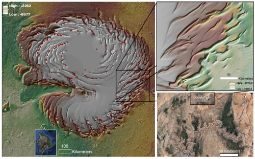 Mars' north pole icecap