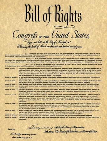 The Bill of Rights, not cancelled!
