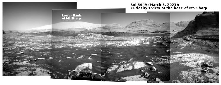 Curiosity panorama Sol 3049