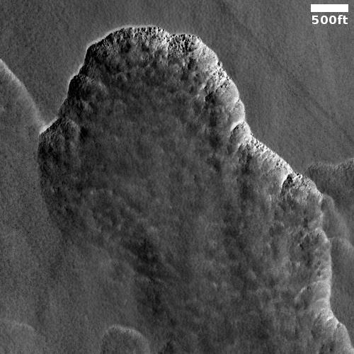 Scallops of Martian ice