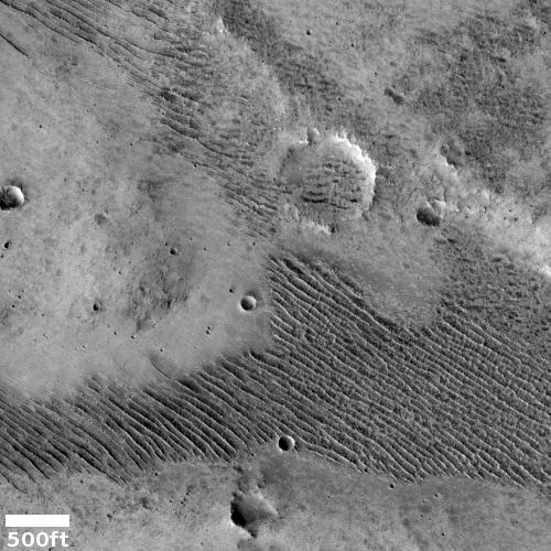 Strange ridges on Mars
