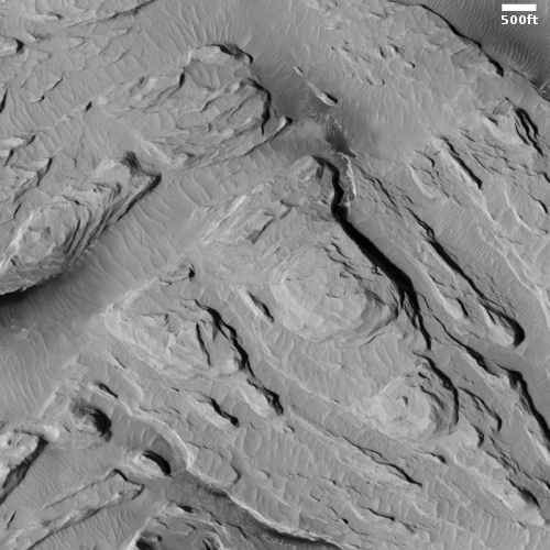 Layers upon layers of Martian volcanic ash